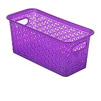 WTL かご?バスケット 透明な色の織物の収納バスケットのプラスチックの家庭の収納バスケット