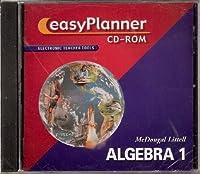 McDougal Littell High School Math: Easy Planner CD-ROM Algebra 1