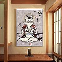壁掛け アートパネル ベッドルーム浴室猫戦士ウォールアートホームデコレーション準備にハングアップするためにキャンバスの壁の装飾 アートパネル (Color : 01, Size : 43x63cm)