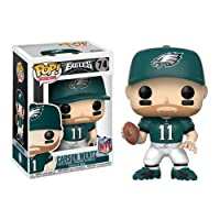 NFL Carson Wentz Eagles Home Wave 4 Pop! Vinyl Figure and (Bundled with Pop BOX PROTECTOR CASE)