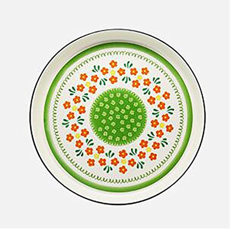 デザートプレートセラミックス円形ディナープレート食器家庭ヴィンテージフォークカスタムフラットプレート骨プレート朝食プレートのフルーツ (サイズ さいず : 24.5*3.5cm)