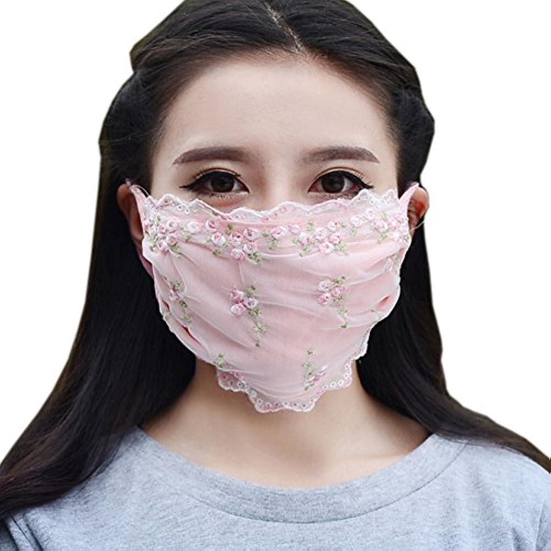 ジャニス勇気のある作物夏の薄いコットンマスク、レースの花
