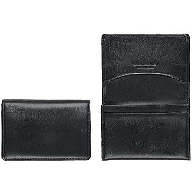 ビジネスレザーファクトリー 牛本革 名刺入れ カードケース (ブラック)