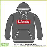 水泳パーカー ストリート系ボックスロゴデザイン オリジナルプリント