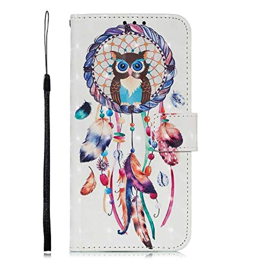斧幸運なことに漫画OMATENTI Galaxy A8 2018 ケース, ファッション良質 PU レザー 財布型 ケース 薄型 人気 新製品 衝撃吸収 全面保護 スマホケース, 付きスタンド機能, カードホルダー機能 ストラップ付き Galaxy...
