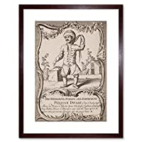 Theatre Ad Carnival Act Persian Dwarf Strongman Small Framed Wall Art Print