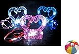 【光る玩具】きらきらハートネックレス 12入 / お楽しみグッズ(紙風船)付きセット [おもちゃ&ホビー]