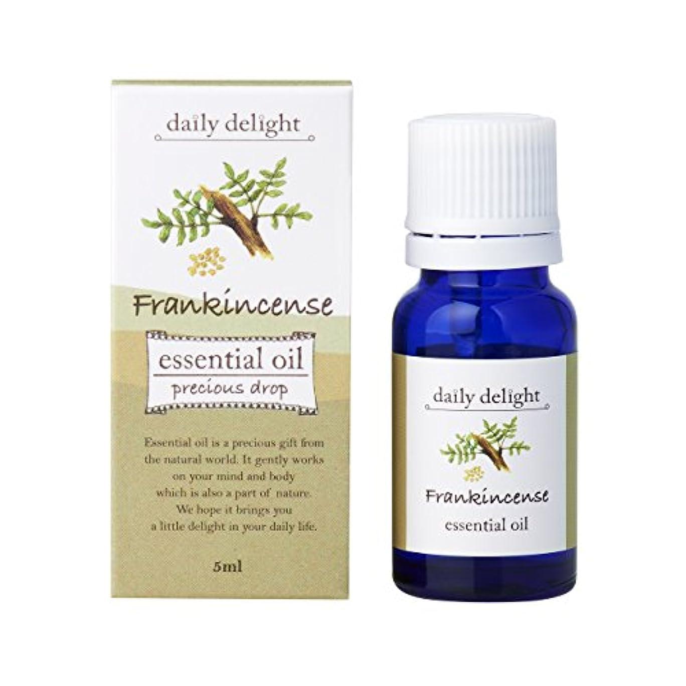 四分円概要熟考するデイリーディライト エッセンシャルオイル フランキンセンス 5ml(天然100% 精油 アロマ 樹脂系 樹脂から採れるさわやかな木の香り)