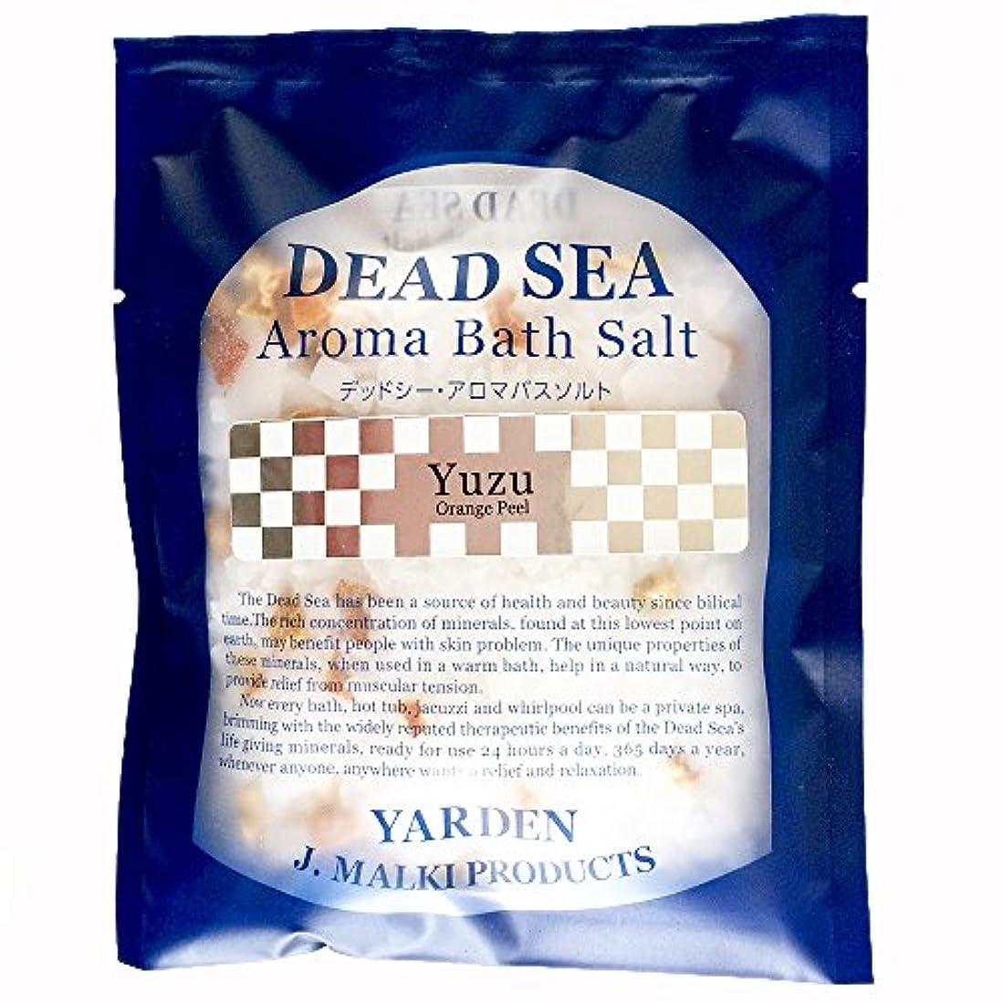 これらパーセント浜辺デッドシー?アロマバスソルト/ユズ 80g 【DEAD SEA AROMA BATH SALT】死海の塩+精油+ハーブ/入浴剤(入浴用化粧品)【正規販売店】