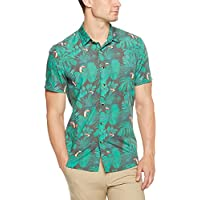 French Connection Men's AMAZON PRINT S/S SLIM FIT SHIRT