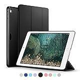 ESR iPad 10.5インチ 2017 ケース 超軽量 極薄 レザー 三つ折スタンド オートスリープ機能 スマートカバー 新しいApple iPad 10.5インチ 2017最新版専用 全5色 (ダークブラック)