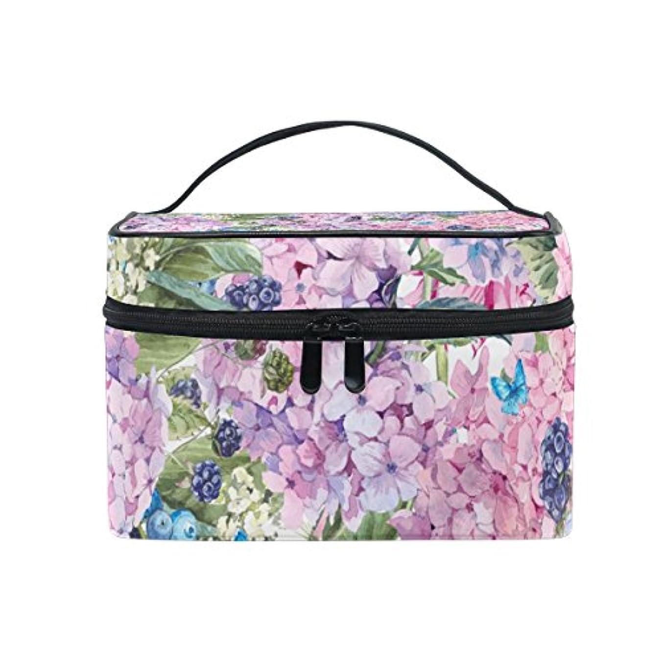 Natax 化粧ポーチ 大容量 かわいい おしゃれ 機能的 バニティポーチ 収納ケース ポーチ メイクポーチ ボックス 小物入れ 仕切り 旅行 出張 持ち運び便利 コンパクト咲く春の花が咲く