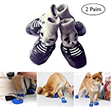 Dog Boots Shoes - Aolvo Waterproof and Anti-Slip Paw Protector Suitable for Small Medium Large Dogs,Breathable and Comfortable Dog Cat Shoes Socks for Indoor Outdoor Use