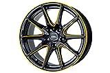 送料無料 ホットスタッフ クロススピード プレミアム RS10 17インチ 7J+50 5H100 ピアノブラック/サイドマシニング +ゴールド 4本 セット