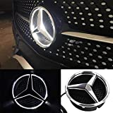 Mercedes Benz LED Emblem White Light, 2013-2015,Car Front Grille Badge, Drive Brighter Illuminated Logo Hood Star DRL for Mer