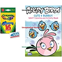Angry Birds Cute and Bubbly and 16 Crayolaクレヨンボックス( Pack of 2 )