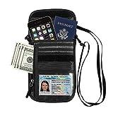 GOWISS パスポートケース ネックポーチ スキミング 海外旅行グッズ 防水 大容量 iPhone 7 Plus収納可 貴重品入れ セキュリティ プレゼント ギフト トラベルポーチ パスポート ポーチ (ブラック)