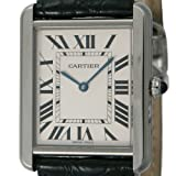 [カルティエ]CARTIER 腕時計 タンクソロ シルバー 黒革 W5200003 メンズ 【並行輸入品】