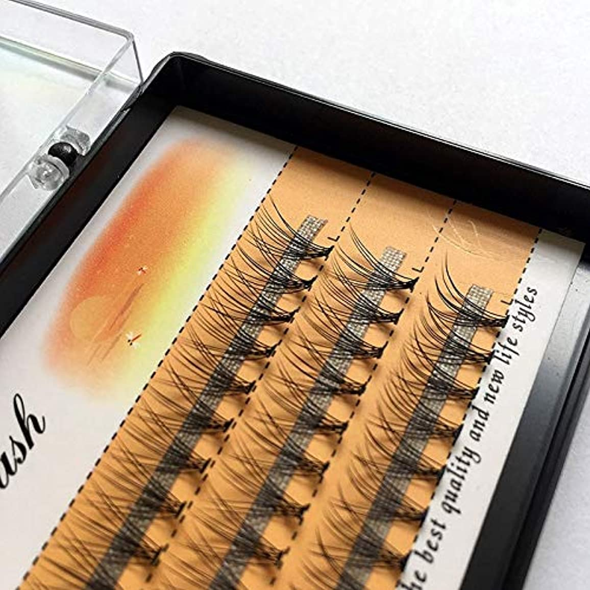 反発注ぎます検証美容アクセサリー 3ボックスナチュラルロング個々フレアまつげクラスタつけまつげ60バンドル/ボックス(10mm) 写真美容アクセサリー (色 : 10mm)