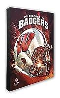 """NCAA Wisconsin Badgers美しいギャラリー品質、高解像度キャンバス、16"""" x 20"""""""