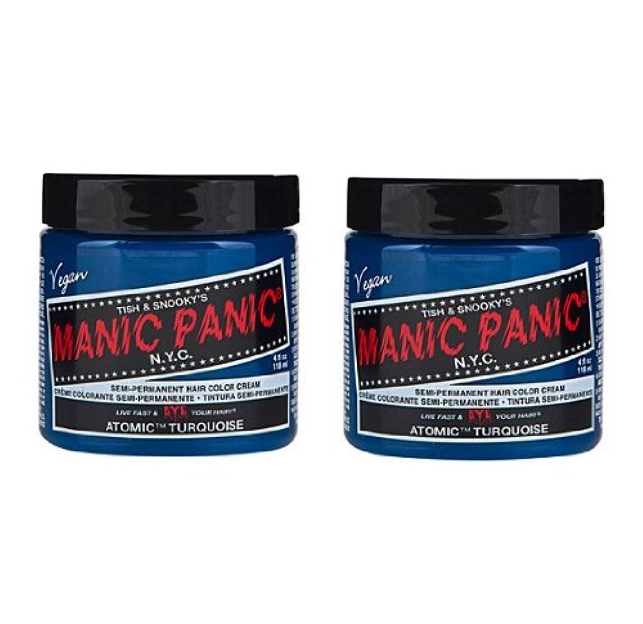 パノラマ快適ターゲット【2個セット】MANIC PANIC マニックパニック Atomic Turquoise アトミックターコイズ 118ml