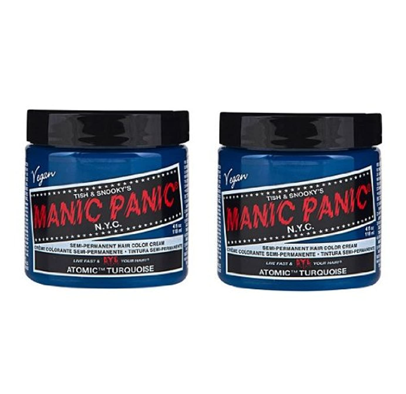 憂鬱安息評価【2個セット】MANIC PANIC マニックパニック Atomic Turquoise アトミックターコイズ 118ml