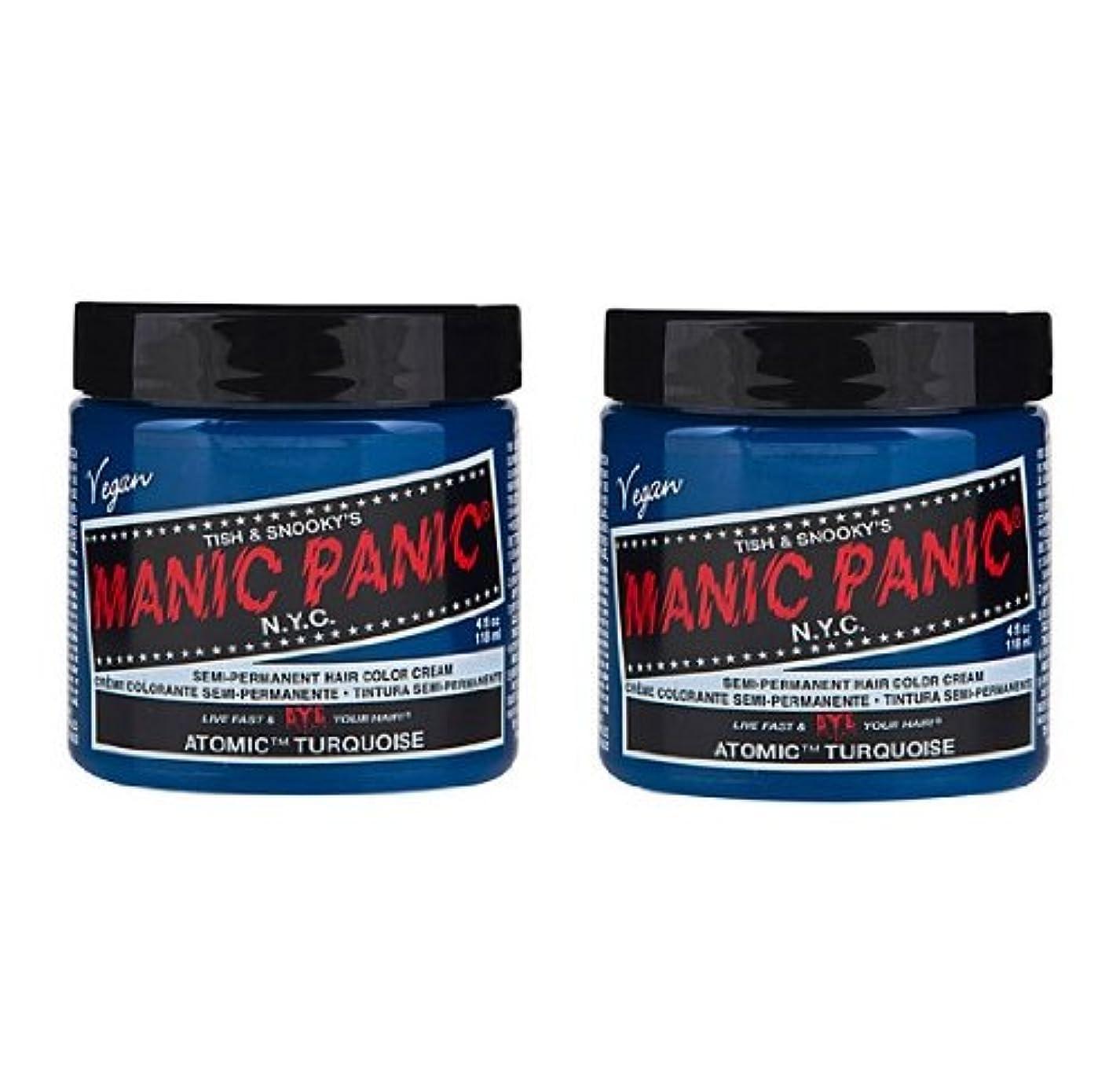 削減単にマキシム【2個セット】MANIC PANIC マニックパニック Atomic Turquoise アトミックターコイズ 118ml