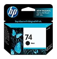 HP 74ブラックインクジェットプリントカートリッジ