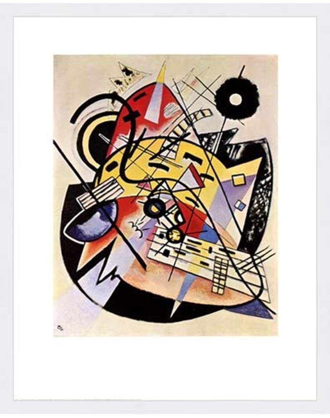 国民投票効率賛辞ホワイトドットby Wassily Kandinsky – 22 x 28インチ – アートプリントポスター LE_26464-F8989-22x28