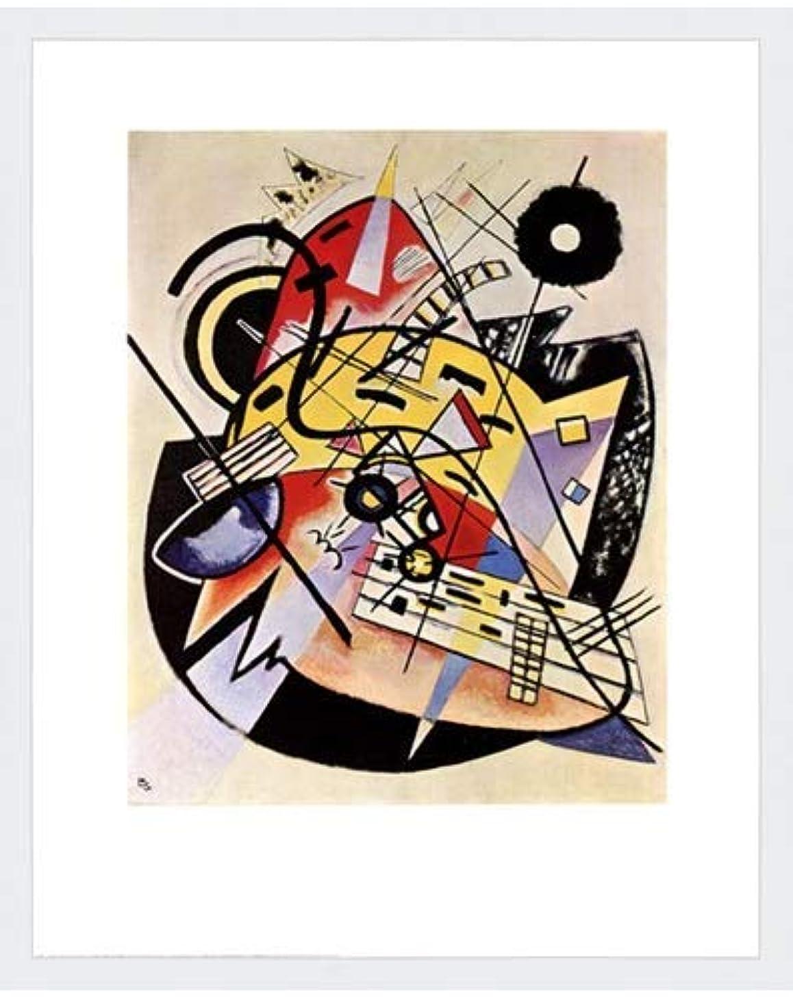 バックグラウンドそっと市場ホワイトドットby Wassily Kandinsky – 22 x 28インチ – アートプリントポスター LE_26464-F8989-22x28