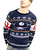 Star Wars Christmas Jumper Tie Fighter Vs X-Wing 公式 Unisex 新しい ブルー