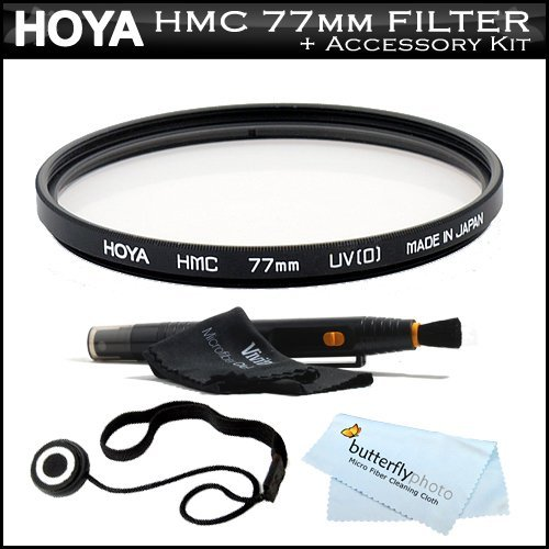 Vivitar 77Mm Uv Hazeフィルタ(ウルトラバイオレット)マルチコーティングガラスフィルタfor Sigma 10–20mm F / 4–5.6EX DC HSMレンズ( 201101) for Canon EOS 7d、EOS 60d、EOS 50d , t3i , t3, t2i , t1i , XSi , XSデジタル一眼レフ+キャップキーパー+ Lenspenクリーナー+ More