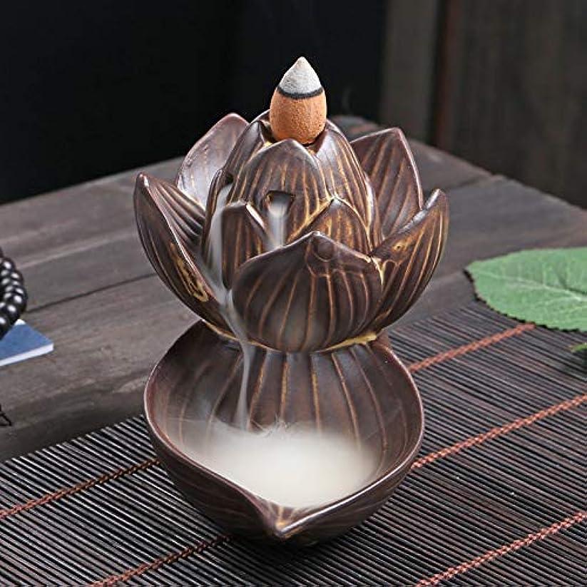 メンタル翻訳者基礎理論PHILOGOD 逆流香炉 陶器ロータススタイリング香炉 工芸品お香 ホルダー 香立て逆流香 香皿 (large lotus)