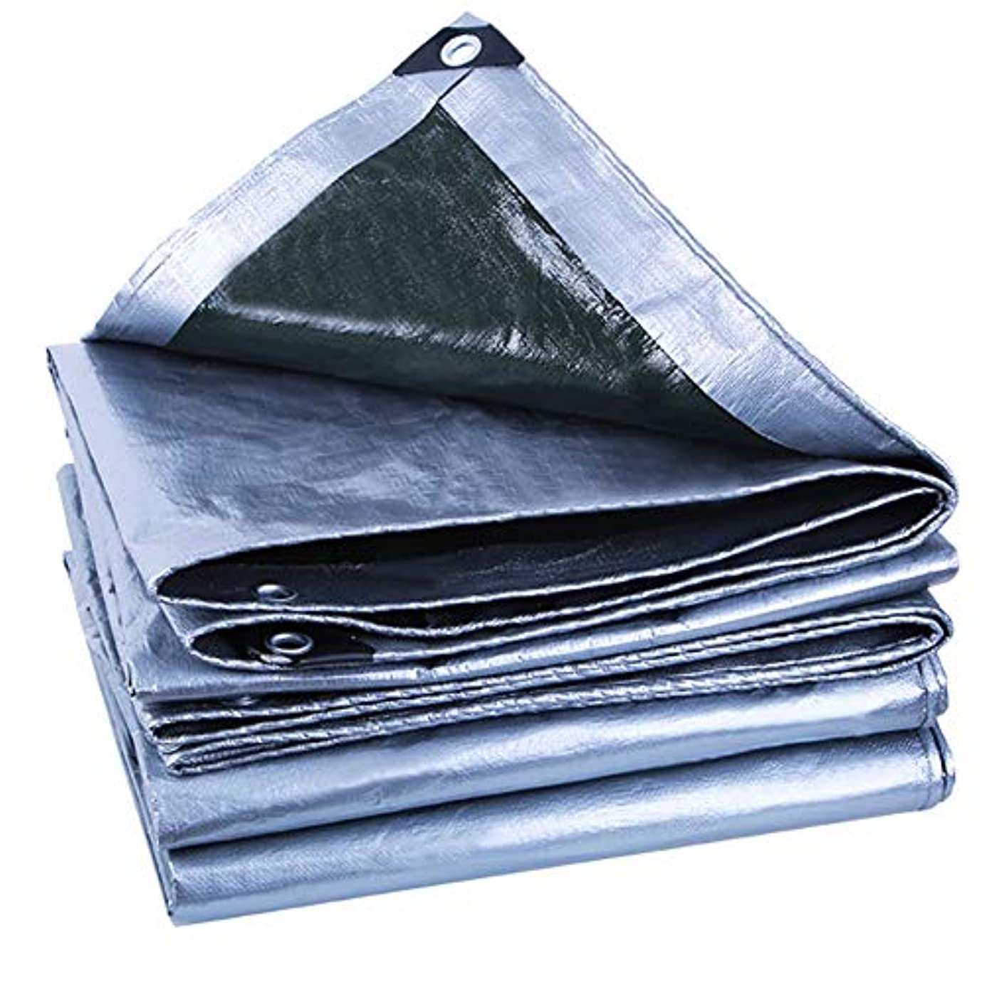 軍団報酬安心防水シートリノリウム シルバーポリタープカバー - グロメットと強化された厚い防水、UV耐性、腐敗、裂け目と裂傷防止用防水シート ZHANGQIANG (Color : A, Size : 6*6m)