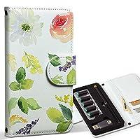 スマコレ ploom TECH プルームテック 専用 レザーケース 手帳型 タバコ ケース カバー 合皮 ケース カバー 収納 プルームケース デザイン 革 花 フラワー カラフル 014559