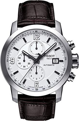 [ティソ] TISSOT 腕時計 PRC 200 オートマティック クロノグラフ ホワイト文字盤 レザー T0554271601700 メンズ 【正規輸入品】