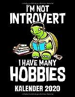 I'm Not Introvert Kalender 2020: Buecher Lesen - Schildkroete Mit Buch Kalender Terminplaner Buch - Jahreskalender - Wochenkalender - Jahresplaner