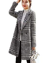 add16716b6566 Gergeousチェスターコート レディース チェック柄 スリム ダッフル コート ロングコート 秋 冬 韓国ファッション アウター