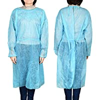 Docooler Disposable Isolation Surgical Gown with Elastic Cuff Non-Woven Splash Resistant for Tattoo Eyebrow Artist and Surgeon (Blue)