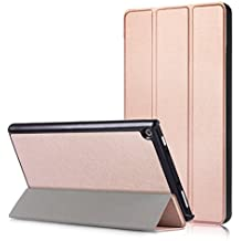 All Amazon Fire HD 8 Slim-Fit Lightweight Trifold Cover Stand xinyitong Smart Cover Case with Auto Sleep/Wake for Amazon Fire HD 8 (7th Generation, 2017,2018 Release)(Rose Gold)