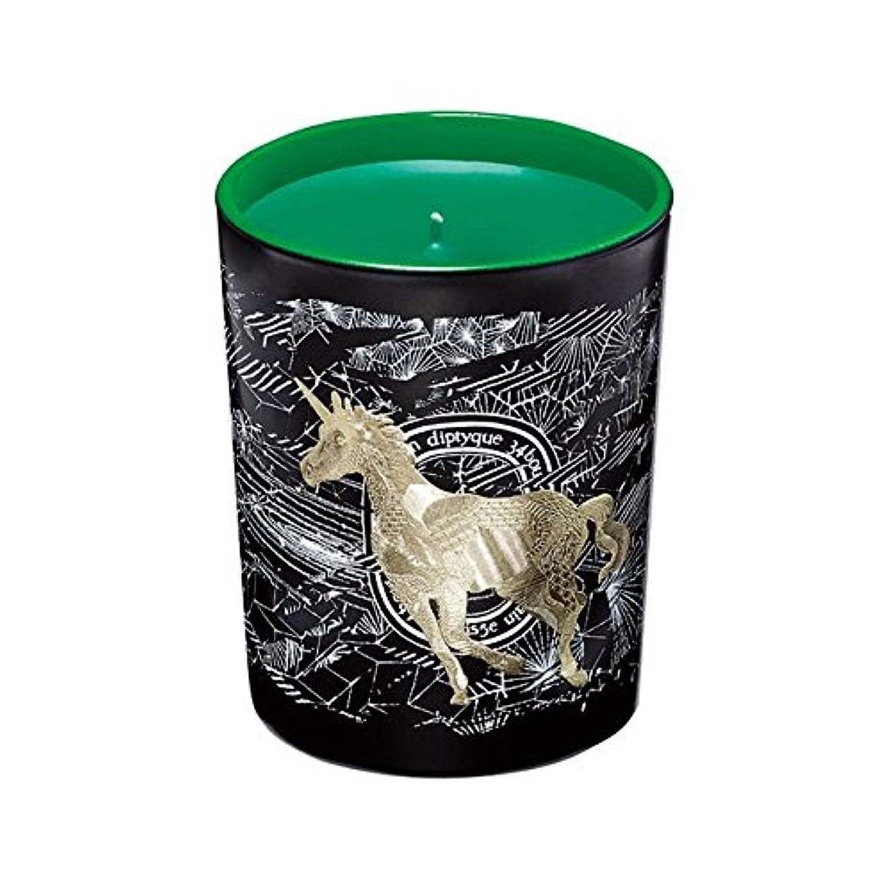 罪悪感綺麗な寄託Diptyque Cosmic Seasonal Scented Candle Holiday Limited Edition – フロストフォレスト( Foret Givree )グリーンユニコーン – 6.5 Oz...
