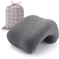 KIGARU(キガル) 昼寝 枕 机 オフィス 腕が痺れない 寝心地良い 低反発 ポーチ付 グレー