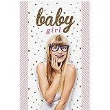 Bigドットの幸せのHello Little One – ピンクとゴールド – ガールズベビーシャワー写真ブースBackdrop – 36