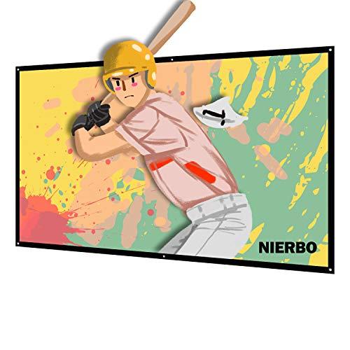 NIERBO-ColorfulLife プロジェクター スクリーン B078XRD7X6 1枚目