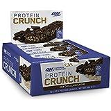 Optimum Nutrition Protein Crunch Bars Milk Chocolate Box of 12 Protein Bars, 12 Pack