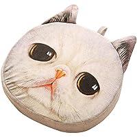 猫枕洗えるクッションクリスマスギフトファッション枕ホワイトA