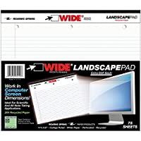 Landscape Format Writing Pad, College Ruled, 11 x 9-1/2, White, 75 Sheets/Pad (並行輸入品)