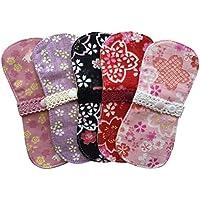 すぃーと・こっとん おりもの用 布ナプキン オーガニックミニーナライナー(和桜)5枚セット