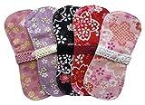 すぃーと・こっとん おりもの用 布ナプキン オーガニックミニーナライナー( 和桜)5枚セット