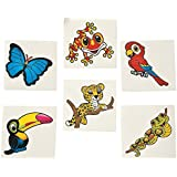 Fun Express Rain Forest Friends Tattoos (6 Dozen) [並行輸入品]